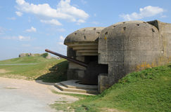 Artillery battery of Longues sur Mer in Basse Normandie Stock Image