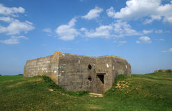 Artillery battery of Longues sur Mer in Basse Normandie Stock Photo
