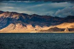 Artillery Bay Pyramid Lake Nevada Royalty Free Stock Images