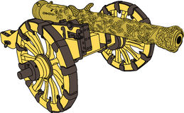 Artillery cannon vector Stock Photography