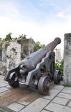 Artillery. Canon artillery at city wall Stock Photography