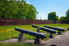 Artillery of Citadel in Warsaw Royalty Free Stock Image