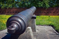 Artillery of Citadel in Warsaw stock photo