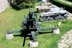 Artillery is a class of large military weapons built to fire munitions Royalty Free Stock Image