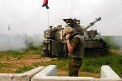 Artillery Corps - Israel. NACHAL OZ , ISR - FEB 25:Israeli artillery M109 howitzer on Feb 25 2006.During 2006 Lebanon War the Israeli Artillery Corps was second Royalty Free Stock Images