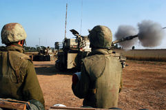 Artillery Corps - Israel. NACHAL OZ , ISR - JULY 04:Israeli artillery M109 howitzer on July 4 2006.During 2006 Lebanon War the Israeli Artillery Corps was second Royalty Free Stock Photo