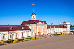 Artillery Court, Kazan Kremlin. The Main Eastern housing of the Artillery Court of the Kazan Kremlin. The Kazan Kremlin is the chief historic citadel of Royalty Free Stock Photography
