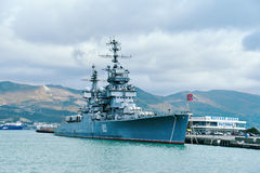 Artillery cruiser Mikhail Kutuzov Royalty Free Stock Photography