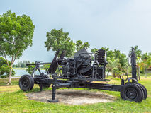 Artillery field gun. Army artillery cannon use for defense and attack Stock Images