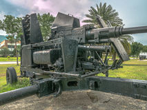 Artillery field gun. Army artillery cannon use for defense and attack Royalty Free Stock Images