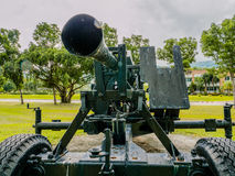 Artillery field gun. Army artillery cannon use for defense and attack Stock Photography