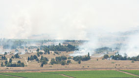 After artillery fire in Syria Al Qunaytirah on Golan Heights Stock Photos