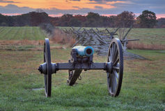 Artillery in Gettysburg. This is a piece of Union Artillery at Gettysburg National Military Park in Pennsylvania Stock Photo