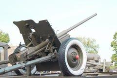 Artillery gun on a background of  the sky Royalty Free Stock Photos