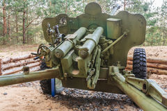 Artillery gun fired during World War II in Belarus Stock Photography