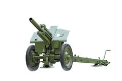 Artillery gun. The howitzer. 122 mm Howitzer M-30 on a white background Royalty Free Stock Photos