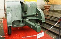 Artillery gun. Old artillery gun of the Second World War Stock Image