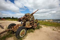Artillery gun Stock Image