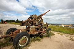 Artillery gun Royalty Free Stock Images