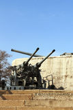Artillery guns of the fortress of Vladivostok Stock Photos