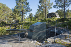 Artillery guns Hegra Fortress Norway Royalty Free Stock Photography