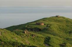 Artillery on the island of Askold Stock Photo
