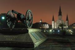 Artillery on Jackson Square stock image