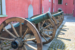 Artillery meseum in St Peter and Paul fortress, St Petersburg, R Royalty Free Stock Photos