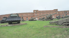 Artillery Museum and exhibits stock video