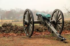 Artillery on Seminary Ridge in Gettysburg National Military Park Royalty Free Stock Photography