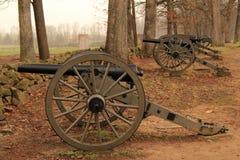 Artillery on Seminary Ridge in Gettysburg National Military Park Royalty Free Stock Photos