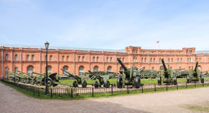 Artillery on the site of the military-historical museum. Stock Image