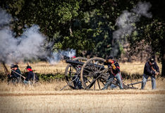 Artillery Strikes Back Royalty Free Stock Images
