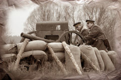 Artillery team. WWI Stock Photography
