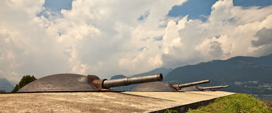 Artillery turrets. Stock Photography