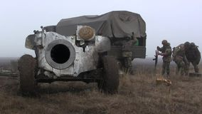 Artilleryman stock footage