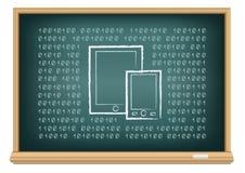 Artilugios electrónicos del tablero ilustración del vector