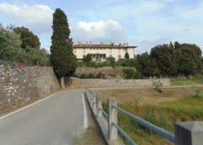 Artimino, Tuscany, W?ochy Willa Medicea Firenze Ferdinanda, widok fasada budynek zdjęcia royalty free