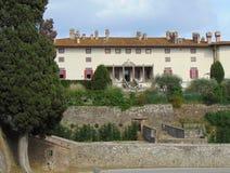Artimino, Tuscany, W?ochy Willa Medicea Firenze Ferdinanda, widok fasada budynek zdjęcia stock