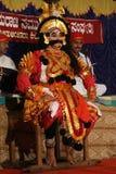 Artis de Yakshagana na fase Imagem de Stock Royalty Free