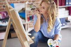 Artis woman Royalty Free Stock Image