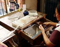 Artisan argenté Photographie stock libre de droits