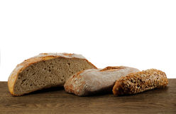 Artisan baked breads Royalty Free Stock Photography