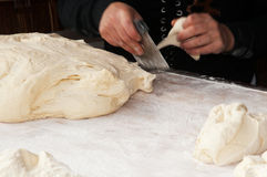 Artisan baker. In traditional fair Royalty Free Stock Images