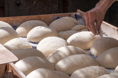 Artisan baker. Working in traditional fair Stock Photography