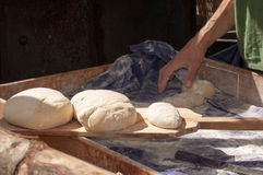 Artisan baker. Working in traditional fair Stock Images