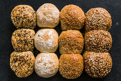 Artisan bakery buns and rolls Royalty Free Stock Photo