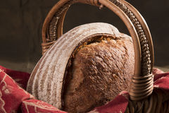 Artisan Bread in a Basket 3. Artisan Bread in a Basket royalty free stock images
