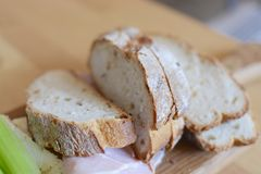 Artisan bread board Stock Photos