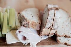 Artisan bread board Royalty Free Stock Photography